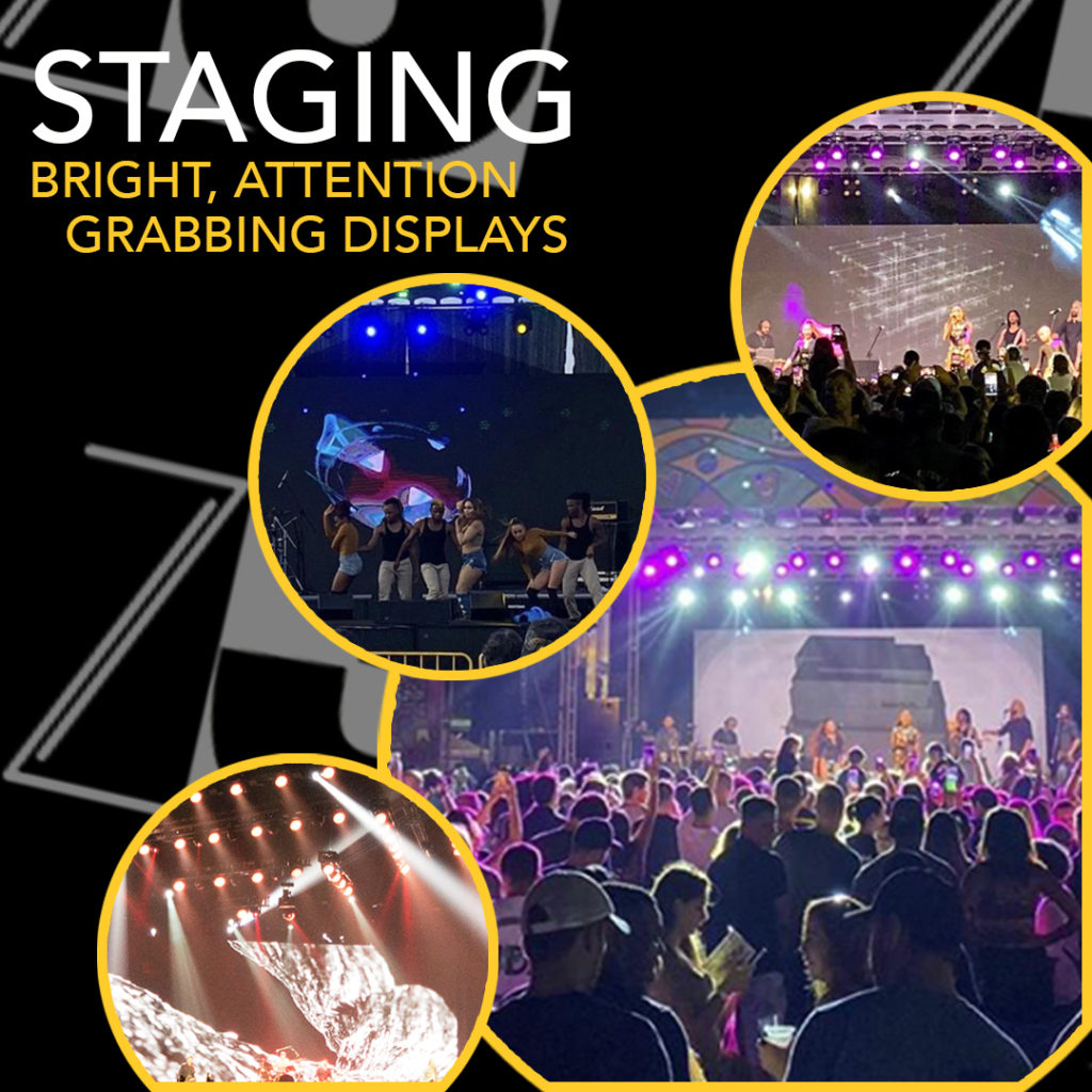 z3 led solutions staging and led panels for Fall Event