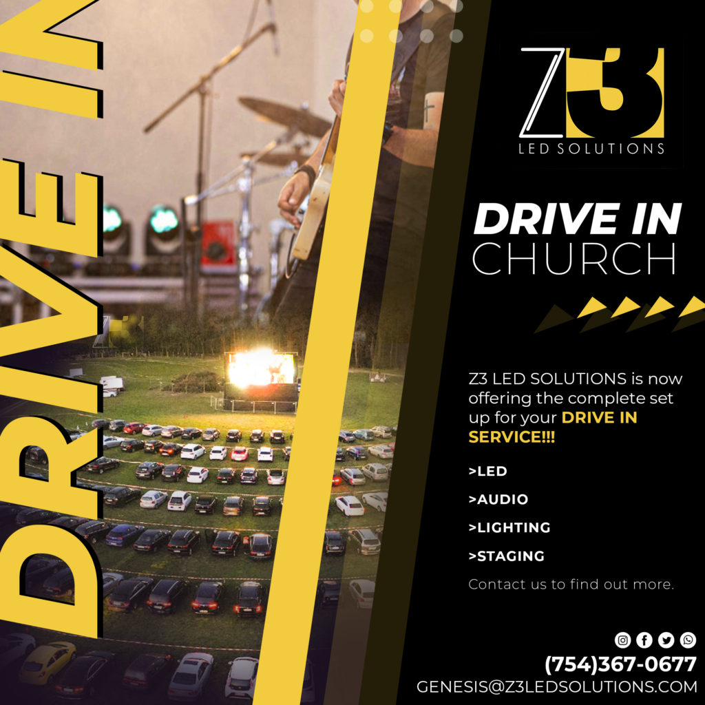 A Complete Lighting & Sound Solution for a Drive-in Church Service